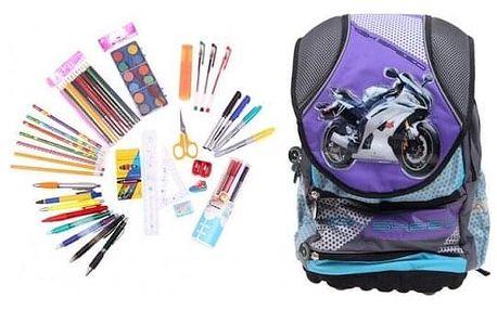 Batoh BIKE s náplní školních potřeb