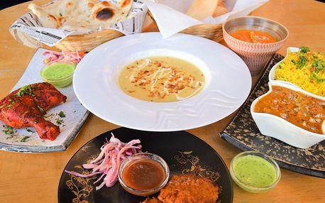 4chodové indické menu v restauraci Ocean Spice