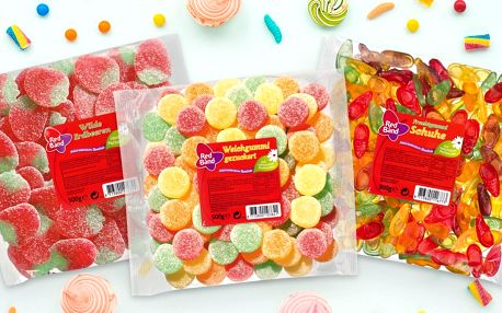 500 g želatinových dobrot: sladké a kyselé ovoce