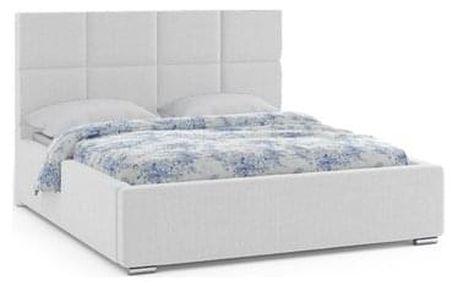 Čalouněná postel ONTARIO 180x200 cm Světle šedá