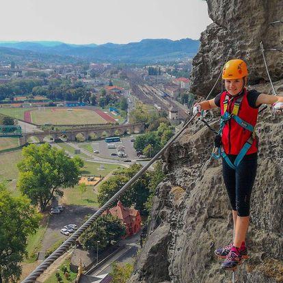 Via Ferrata: Zajištěné cesty na Pastýřské stěně v Děčíně