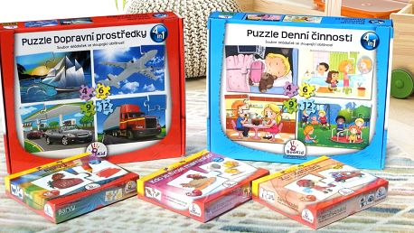 Edukativní i zábavné puzzle a karty pro děti