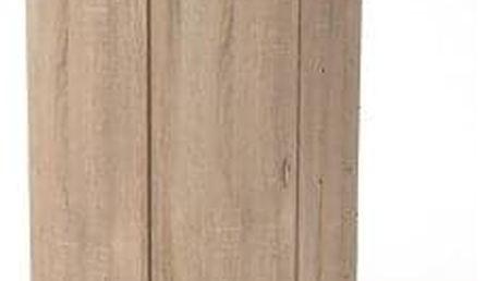 Šatní skříň rohová 3U dub sonoma
