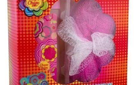 Chupa Chups Strawberry Dream dárková kazeta pro děti sprchový gel 250 ml + mycí houba