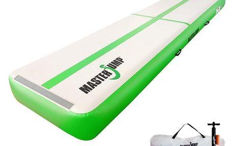 Airtrack MASTERJUMP nafukovací žíněnka 400 x 100 x 30 cm - zelená