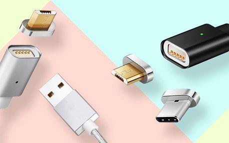 Magnetický USB kabel: micro USB, USB-C i iPhone