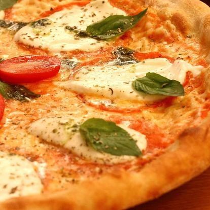 Margherita nebo 1-2 pizzy podle výběru z 8 druhů