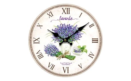 Nástěnné hodiny Lavande Provence, pr. 34 cm