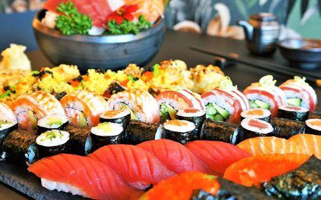26 nebo 63 kousků sushi s avokádem i lososem