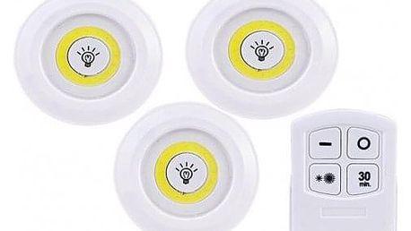 LED světlo s ovladačem 3 ks