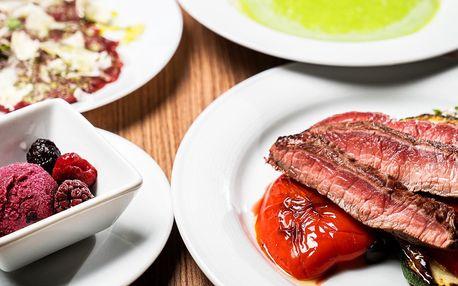 Letní 4chodové menu s hovězím steakem pro 2 osoby