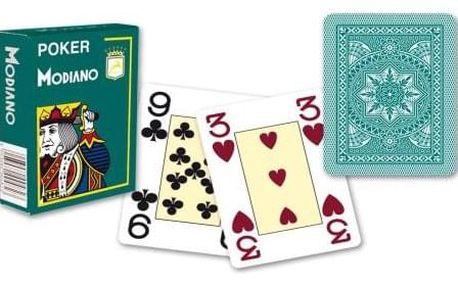 Modiano 4188 100% plastové karty 4 rohy - Zelené