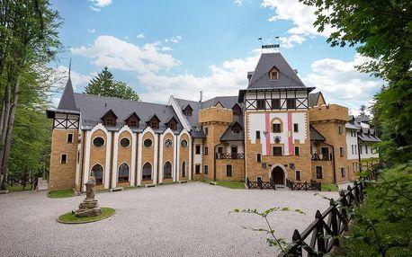Královská romantika na zámku Lužec – 7×noc v Deluxe pokoji, neomezený wellness + 3chodová večeře