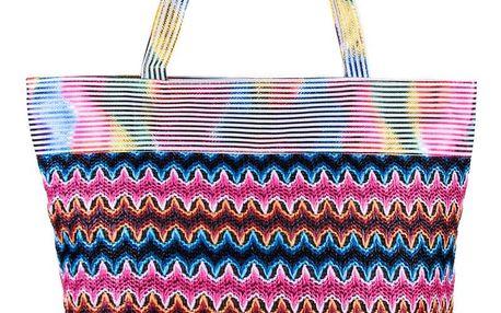 Fashion Icon Dámská plážová taška Etno letní pruhovaná