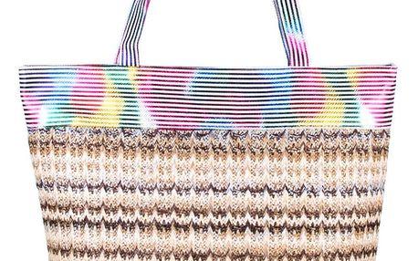Fashion Icon Dámská plážová taška slaměná barevná