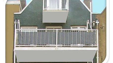 Balkónová zástěna světle šedá, 76 x 445 cm