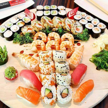 Porce rolovaných dobrot: 21, 34 nebo 50 ks sushi