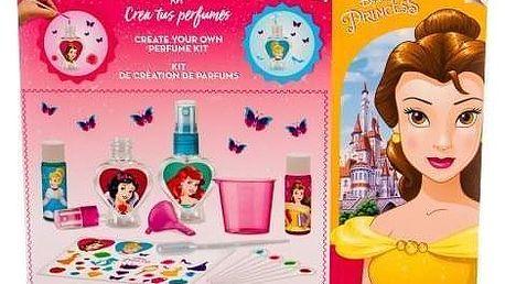 Disney Princess Princess dárková kazeta pro děti sada na vytvoření vlastního parfému - toaletní voda 2x 10 ml + lahvička 2 ks + samolepky + kapátko + odměrka + trychtýř + testovací papírky miniatura