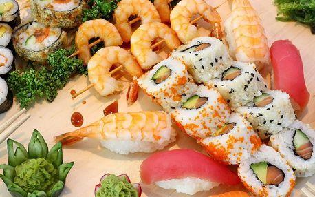 Sushi sety s lososem i grilovanými krevetami