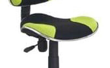Dětská židle QZY-G2 - černo-zelená