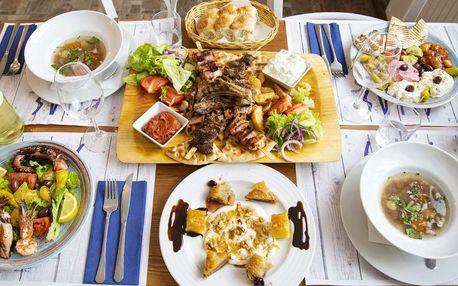 Řecké degustační menu s masem i mořskými plody