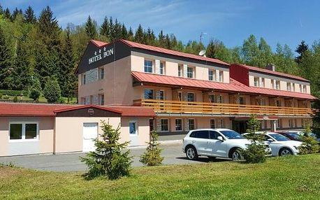 Jizerské hory v Hotelu Bon *** s polopenzí, privátním wellness a bowlingem