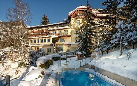 Rakouské Alpy na zimu v Hotelu Alpenblick *** s bohatým wellness, termálním bazénem, vyžitím a polopenzí