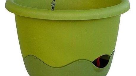 Plastia Samozavlažovací květináč Mareta zelená , pr. 30 cm, pr. 30 cm