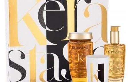 Kérastase Elixir Ultime dárková kazeta pro ženy zkrášlující olej 100 ml + šampon Elixir Ultime Le Bain 250 ml + vonná svíčka 100 g