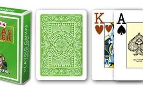Modiano 31299 2 rohy 100% plastové karty - Světle zelené