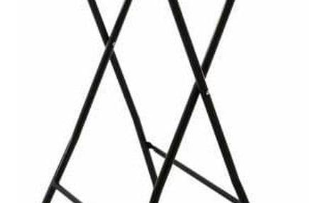 Garthen 40788 Zahradní barový stolek kulatý - ratanová optika 110 cm - černý