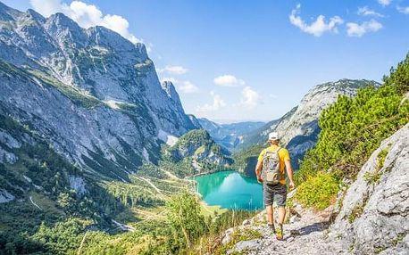 Rakouské Alpy v blízkosti přírodního koupaliště na jezeře Lunzer See v českém Penzionu Sunny se snídaní