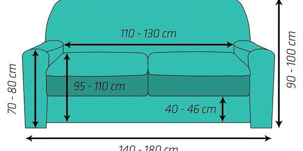 4Home Multielastický potah na dvojkřeslo Comfort šedá, 140 - 180 cm3
