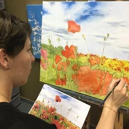 LETNÍ 1-denní kurz malby: červenec