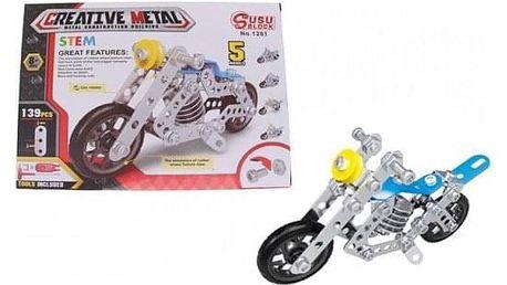 Kovová stavebnice motorka