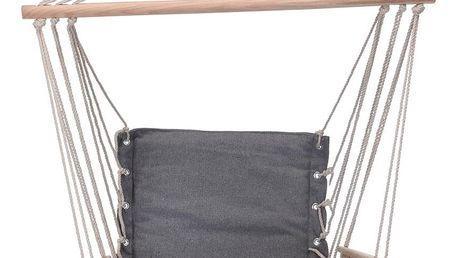 Závěsné houpací křeslo Comfortable šedá, 100 x 53 cm