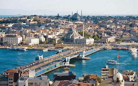 Turecko - Istanbul letecky na 4-5 dnů, snídaně v ceně