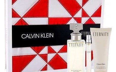 Calvin Klein Eternity dárková kazeta pro ženy parfémovaná voda 100 ml + tělové mléko 100 ml + parfémovaná voda 10 ml