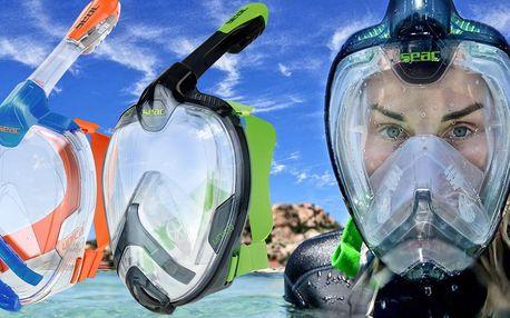 Celoobličejová šnorchlovací maska, 2 velikosti
