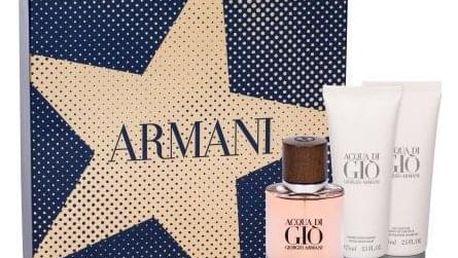 Giorgio Armani Acqua di Giò Absolu dárková kazeta pro muže parfémovaná voda 40 ml + sprchový gel 75 ml + balsam po holení 75 ml