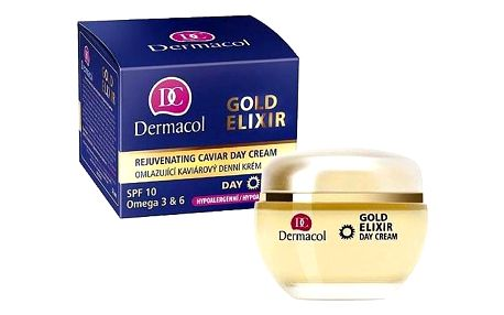 Dermacol Gold Elixir 50 ml omlazující pleťový krém pro ženy