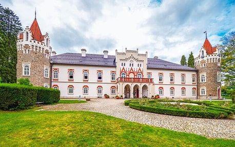 Vysočina v unikátním zámečku Chateau Herálec ***** Boutique Hotel & Spa s luxusním wellness a snídaní