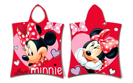 Jerry Fabrics Dětské pončo Minnie Love, 50 x 115 cm