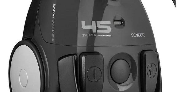 Vysavač podlahový Sencor SVC 45BK-EUE3 černý3