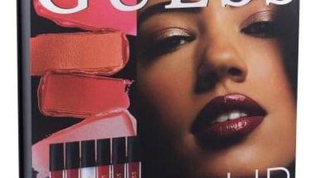 GUESS Look Book Lip dárková kazeta pro ženy rtěnka 3 x 4 ml + lesk na rty 3 x 4 ml + zrcátko 101 Red
