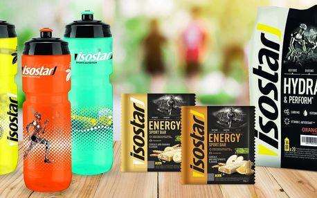 Energetické tyčinky a nápoj Isostar Energy