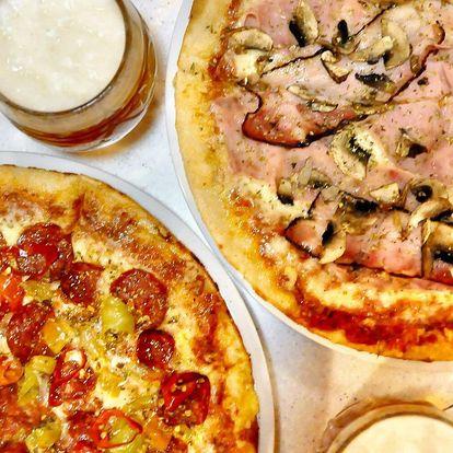 2 klasické pizzy nebo 1 velká podle výběru