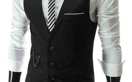 Elegantní pánská vesta - 3 barvy