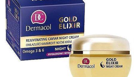 Dermacol Gold Elixir 50 ml regenerační noční krém proti vráskám pro ženy