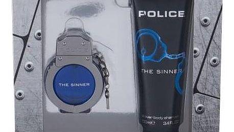 Police The Sinner dárková kazeta pro muže toaletní voda 30 ml + sprchový gel 100 ml
